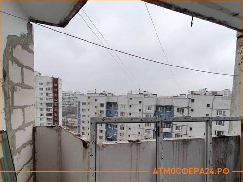 Начало остекление балкона в панельном доме на 9 этаже