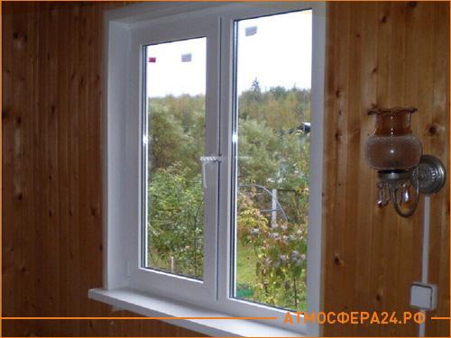 Недорогое пластиковое окна для частного дома на дачном участке