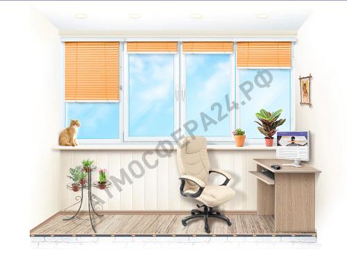 Пример теплого остекления балкона или лоджии