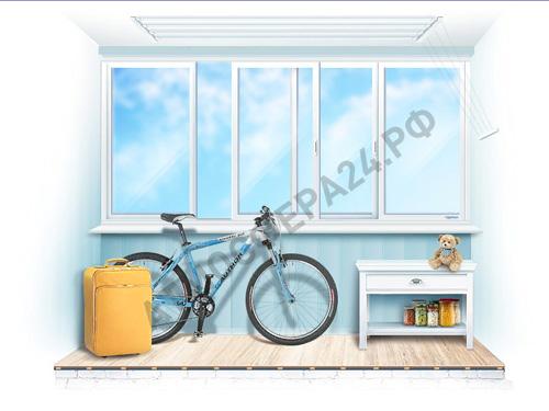 Пример холодного остекление балкона или лоджии