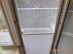 Сетка на балконную дверь, вид из квартиры